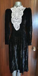Vintage Perspective Black Velvet Dress Size 9
